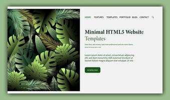 Web page design template for beauty, natural products
