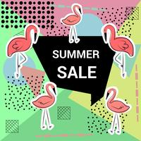 Trendy geometric flat pattern