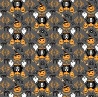 Halloween background. Seamless pattern. vector