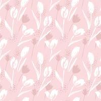 Abstrakta blommor sömlösa mönster tulpaner. Trendiga handdragen texturer