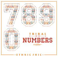 Tribal ethnic numbers for t-shirts, posters, card and other uses.