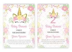 Baby shower con unicorno decorativo floreale a forma di unicorno