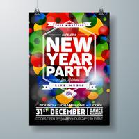New Year Party Celebration Poster Template illustration