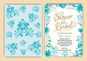 Floral Frame Bridal Shower Invitation eller Bröllopskort