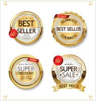 Luxury premium sale golden badges and labels collection
