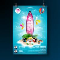 Progettazione di Flyer Party Beach estate