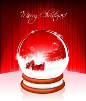 Vector Holiday illustration on a Christmas theme with snow globe