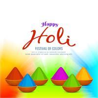 Abstrakter glücklicher dekorativer Hintergrund Holi