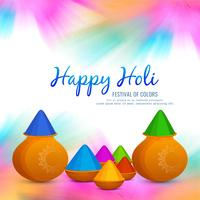 Abstract colorful Happy Holi background vector