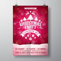 Merry Christmas Party Flyer Illustratie