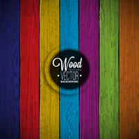 Vector color painted wood texture background design.