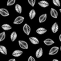 Abstract floral seamless pattern with leaves. Trendy hand drawn textures.