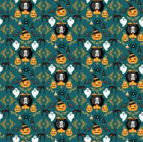 Halloween background. Seamless pattern. vector
