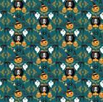 Halloween Hintergrund Nahtloses Muster