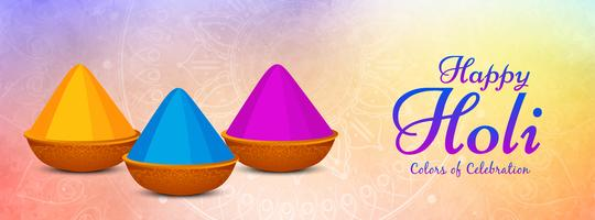 Modelo de banner de celebração linda feliz Holi