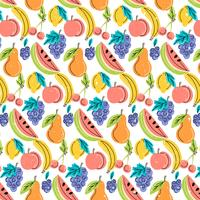 Vector Colorful Fruits Pattern
