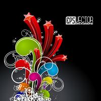 Abstract background brillant vector avec design wave couleur