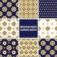 Set of Arabic seamless patterns,
