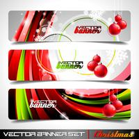 Vector banner set on a Christmas theme.