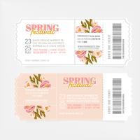 Vektor Frühlingsfest Tickets
