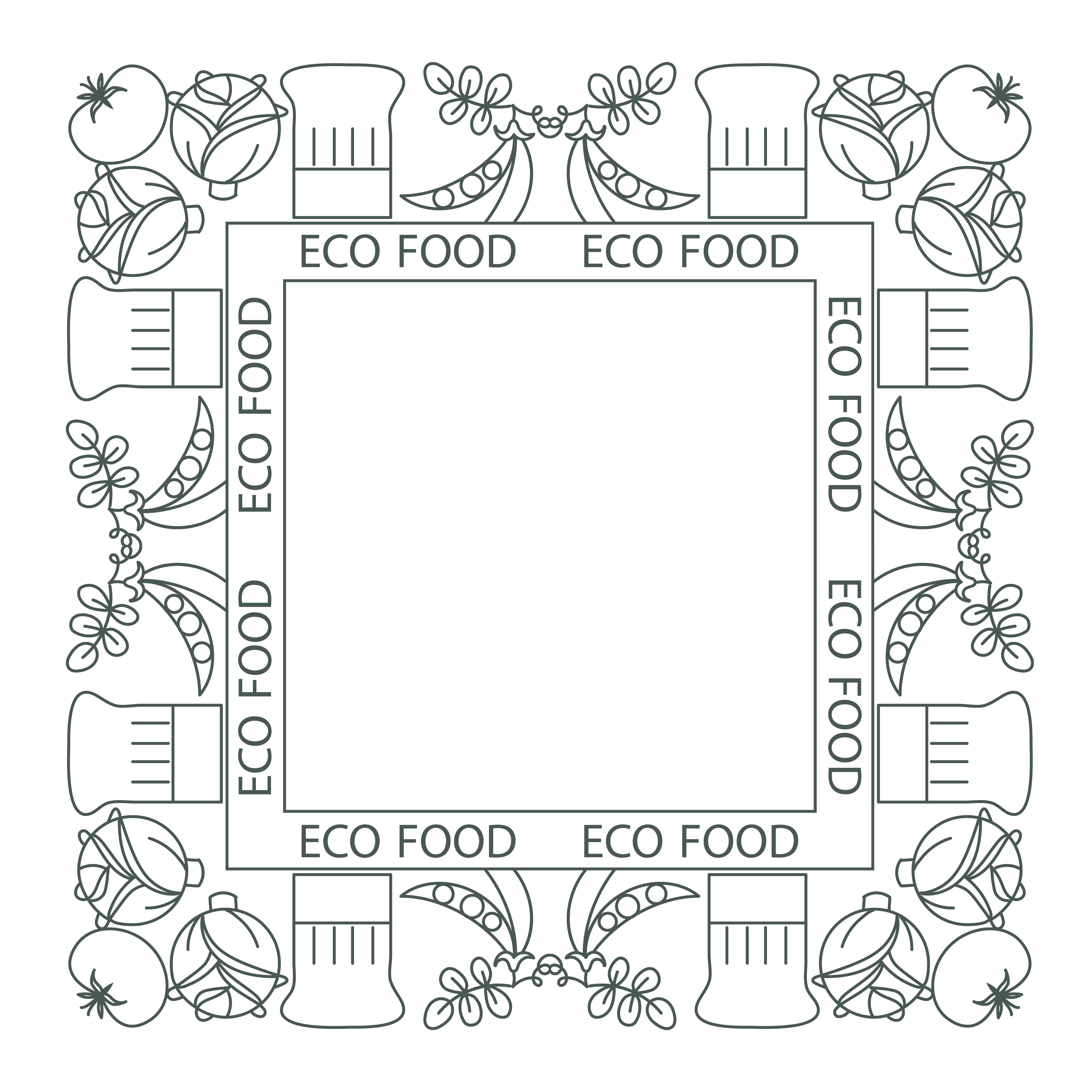 Concept Of Healthy Food Frame Border Download Free Vectors Clipart Graphics Vector Art