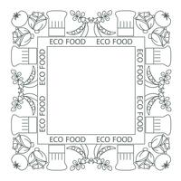 Concept of healthy food. Frame, border