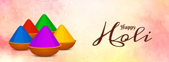 Abstract Indian festival Holi banner template
