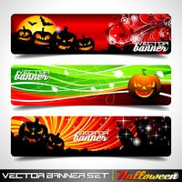 Vector banner set on a Halloween theme.
