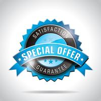 Vector Special Offer Labels Illustration with shiny styled design on a clear background.