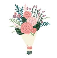 Vector illustration bouquet of flowers.