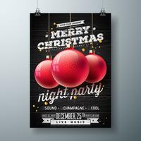 Frohe Weihnachten Nacht Party Illustration