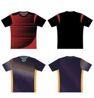 Athleisure set Fashion tekniska ritningar vektor mall
