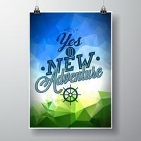 Vektortypographiegestaltungselement für Grußkarten und Poster.