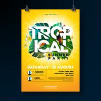 Tropical Summer Party Flyer Design