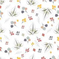Étnico patrón floral sin fisuras