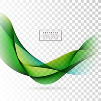 Abstract Wave Design on Transparent Background