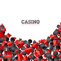 Casino playing card symbols on white background