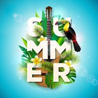 Summer Holiday typographic illustration