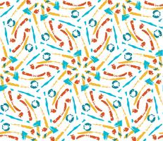 Hand drawn painted seamless pattern.