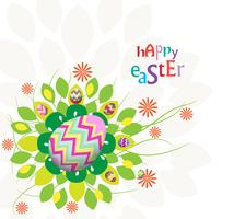 easter eggs flower background colorful