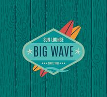 Retro Style Surfing Labels,  vector