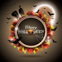 Ilustración del vector en un tema de Halloween.