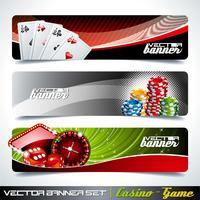 Vektor banner satt på ett kasinotema.