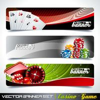 Bandeira do vetor ajustada em um tema do casino.