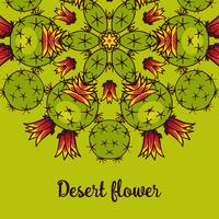 Banner with a kaleidoscope of succulents in style hand drawing.