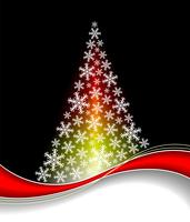 Vector illustration with abstract christmas tree on dark background