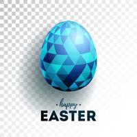 Illustration of Happy Easter Holiday with Painted Egg