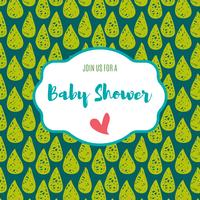 Baby shower invitation card   green flash color.