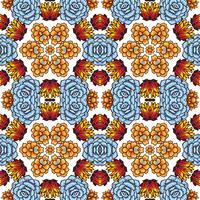 Kaleidoscope of succulents.  vector