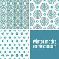 Conjunto padrão sem emenda de flocos de neve